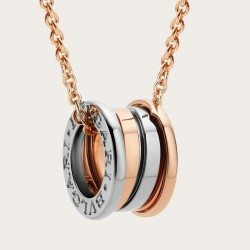 BULGARI LABYRINTH PINK AND WHITE GOLD NECKLACE