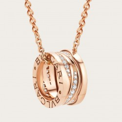 BULGARI BZERO1 ZAHA HADID PINK GOLD DIAMONDS NECKLACE