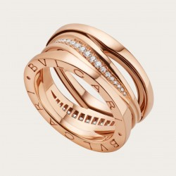 BULGARI BZERO1 ZAHA HADID PINK GOLD DIAMONDS RING