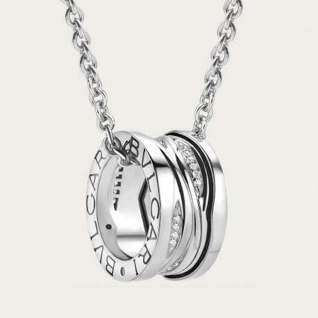 BULGARI BZERO1 ZAHA HADID WHITE GOLD DIAMONDS NECKLACE