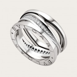 BULGARI BZERO1 ZAHA HADID WHITE GOLD DIAMONDS RING