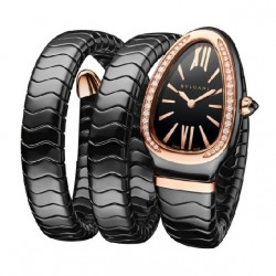 BULGARI SERPENTI SPIGA CERAMIC DIAMONDS 35MM