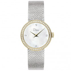 D DE DIOR 25MM GOLD BEZEL DIAMONDS