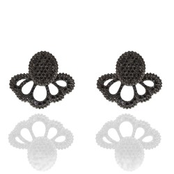 CARLA AMORIM REVOADA EARRINGS BLACK DIAMONDS