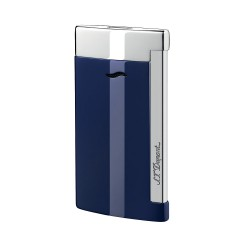 S.T DUPONT BRIQUET SLIM 7 FINITION CHROME BLEU