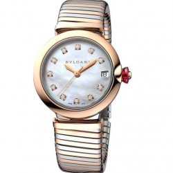 BULGARI LUCEA 33MM PINK GOLD
