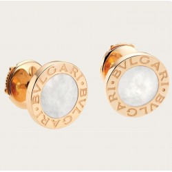 BULGARI BULGARI PINK GOLD-MOTHER OF PEARL EARRINGS