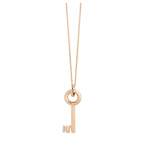 LA MARGINEDA MEDIEVAL JEWELS PINK GOLD NECKLACE WITH DIAMONDS