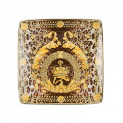 ROSENTHAL VERSACE TRIBUTE WILD BAROQUE COUPELLE CARRÉE 12CM