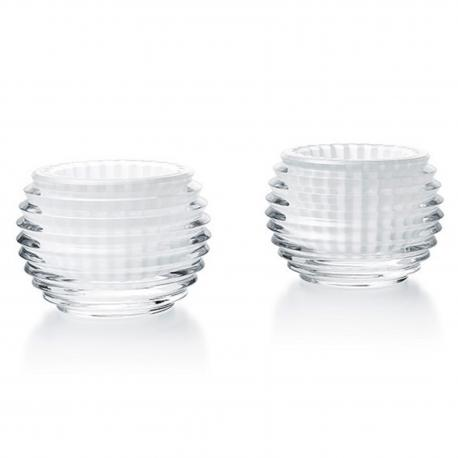 BACCARAT EYE BOUGEOIR BLANC x2