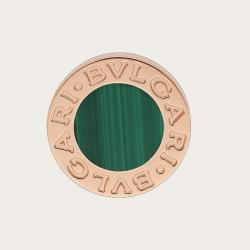 BULGARI CLASSIC PINK GOLD EARRING WITH MALACHITE