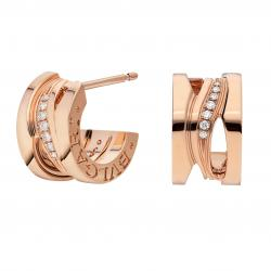 BULGARI BZERO1 ZAHA HADID PINK GOLD EARRINGS WITH PAVÉ DIAMONDS
