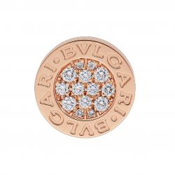 BULGARI BULGARI SINGLE PINK GOLD EARRING DIAMONDS PAVÉ